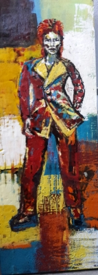 the candidate, encuastic on birch panel, 90X40cm- SOLD!