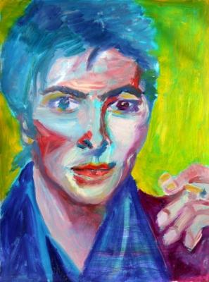 feminine Bowie, oil, 65X50cm