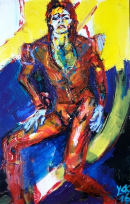 hello spaceboy, acrylic on paper, 50X32cm