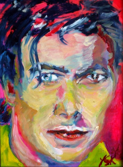 masculine Bowie, oil on canvas, 40X30- SOLD!