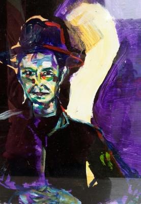 the gentleman David, collage, 40X30cm