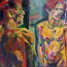 Bowie für Hannes, 90X120cm, acryl auf Leinwand- SOLD!