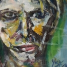 Scars that can´t be seen, oil, 38,5cmX28,5cm