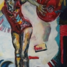 Lazarus, acrylic, 119X98cm