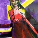 colour collage David, mixed media, 40X30cm