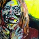 Lady Grinning Soul, acrylic on canvas, 40X60cm