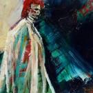 thin white duke, acrylic on canvas, 30X30cm- SOLD!