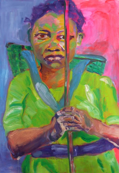 African Girl, oil, 100X70cm- Donation to TERRA TECH Marburg
