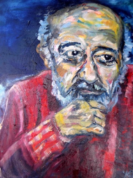 Ara Güler, oil on canvas, 60X40cm