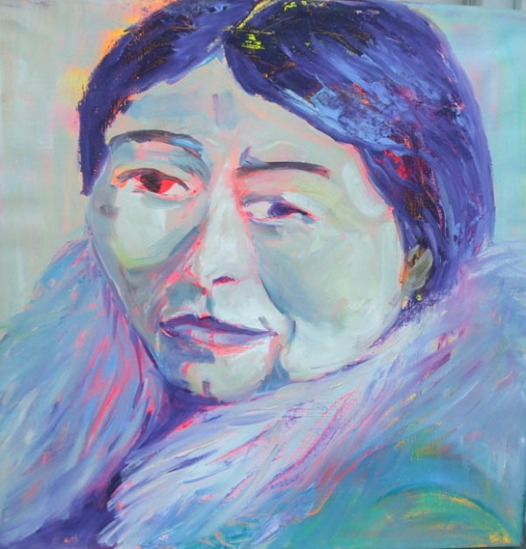 Inuit calm, oil on canvas, 60X60cm- SOLD!