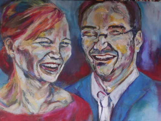 Newlyweds, oil on canvas, 90X120cm- SOLD!