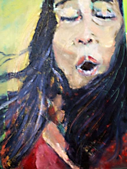 the singer, oil on canvas, 80X40cm- SOLD!