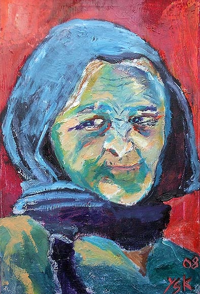 die Türkish woman, oil on canvas,