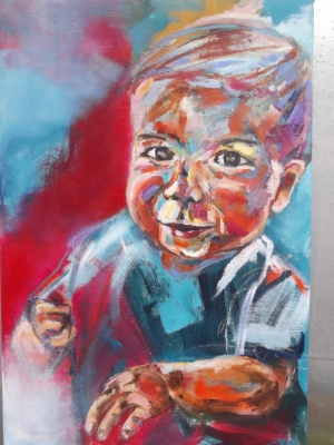 Little Leo, oil on canvas 90X60cm- SOLD!