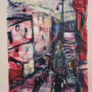 Feierabend in Cankaya, acrylic on paper, 29,5X21.5cm  SOLD!