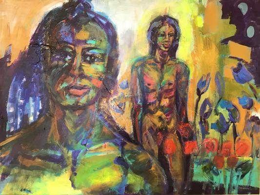 Wild thing, acrylic on canvas, 60x80cm