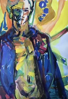Boy toy, 60x40cm, acrylic on canvas