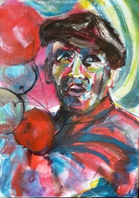 Baloon man, acrylic on canvas, 40X30cm