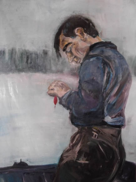 The Fisherman Tom, oil on canvas, 90 x 135 cm