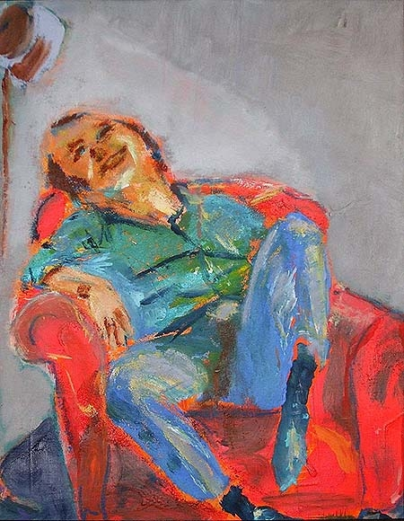 SOLD! the laughing man, oil, 60X40cm