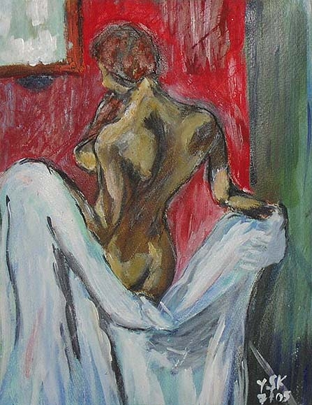 the towel, oil, 40X30cm- SOLD!