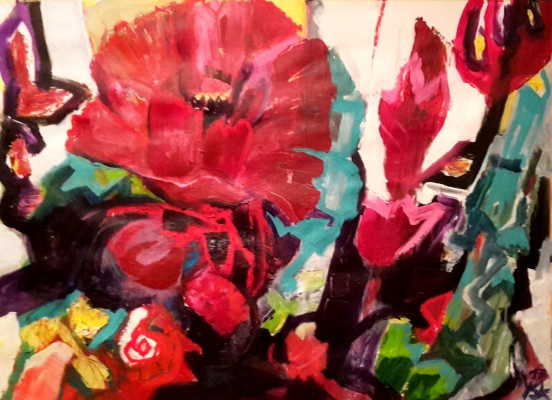 november flower , 70 X100cm, acrylic on paper