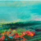 SOLD!supernatural poppies, acrylic on canvas, 20X90cm- SOLD!