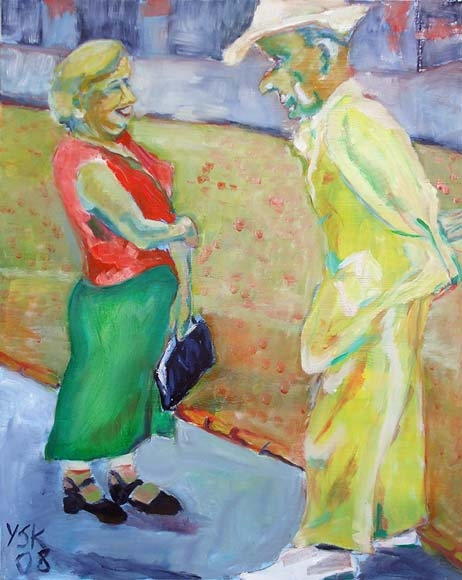 The Flirt, oil on canvas, 80 x 100 cm - SOLD!