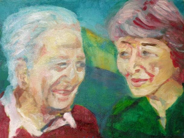 my parents, oil on canvas, 40X60cm, nfs