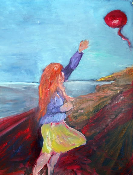 Letting go , oil on canvas, 50 x 65 cm - SOLD!