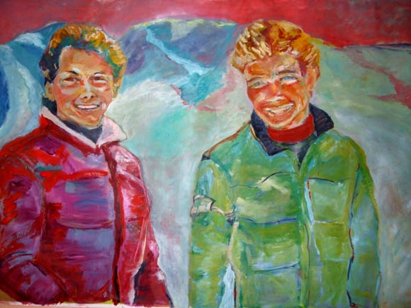 Ron and Colin, oil on canvas, 170X210- SOLD!