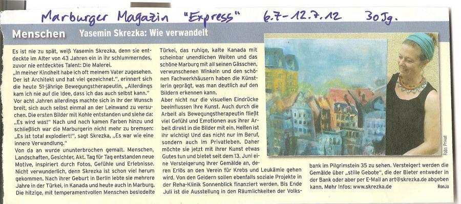 »Menschen - Yasemin Skrezka: Wie verwandelt« Marburger Magazin