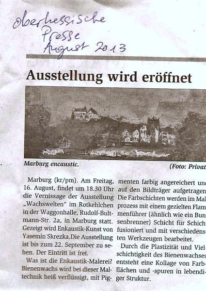 Oberhessiche Presse, August 2013