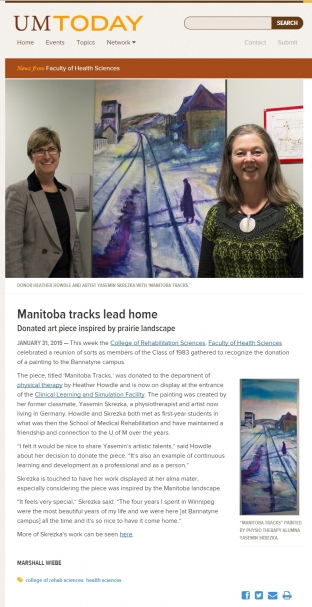 Manitoba tracks lead home« UMTODAY, online 2015