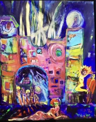 Burg Metamorfosi, acrylic  on canvas, 200x205cm