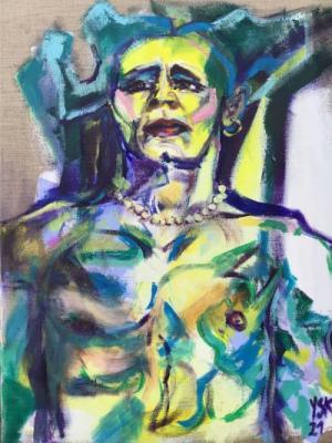 King Garters, acrylic on canvas, 80x60cm