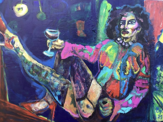 Frank N Furter, acrylic on canvas, 120x160cm