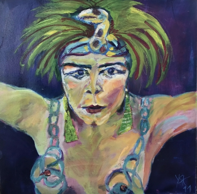 Snake dancer, acrylic on canvas, 60x60cm