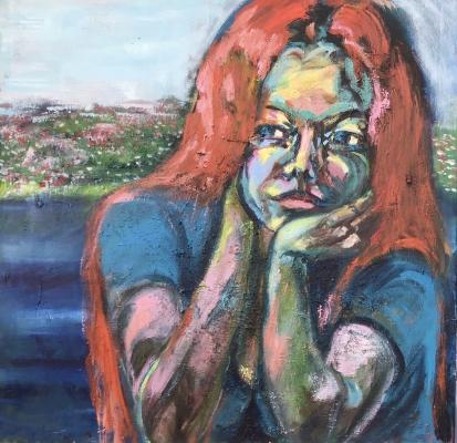 Deine blauen Augen sind phenomenal! , 75x75cm, Acryl  on canvas