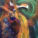 veil dance, 40X30cm , acrylic