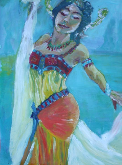 Mata Hari, oil on paper, 60X40cm