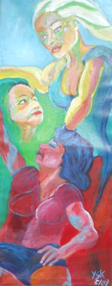 Between two Worlds, oil, 150X60cm- SOLD!