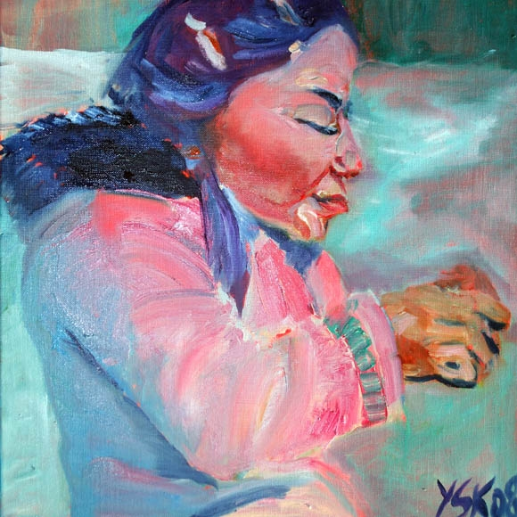 Inuit girl, oil on canvas, 40X30cm