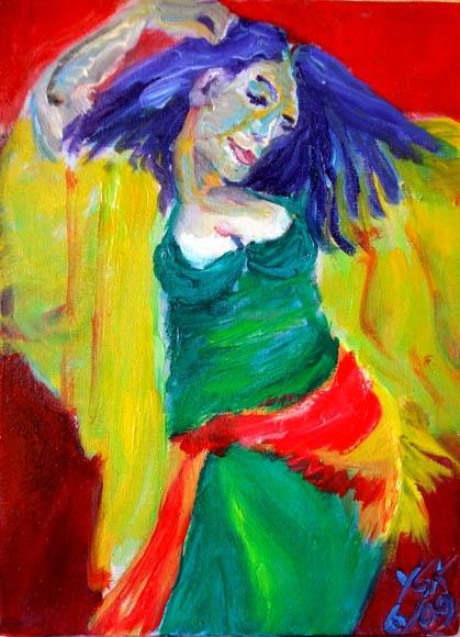oriental swing, oil on canvas, 40X40cm