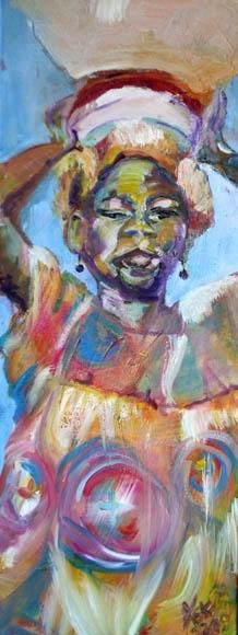 proud carry, oil on canvas, 80X30cm